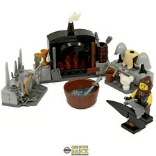 Blacksmith Castle Set | Anvil, Furnace, Weapons & Minifigure | All parts LEGO
