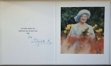 Queen Elizabeth II Mother Signed Autograph Christmas Card Picture King George VI
