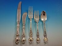 Violet by Wallace Sterling Silver Flatware Set Service 30 pieces No Monograms