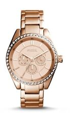 New boxed Fossil Carissa Multifunction rose gold tone stainless steel watch