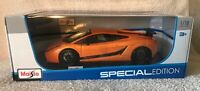 2007 Lamborghini Gallardo Superleggera 1:18 Maisto Special Edition Orange NIB!