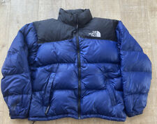 The North Face Vintage 700 Down Navy Blue Nuptse XL Puffer Hooded 90s Gore-tex