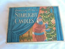 New ListingAntique Improved Dripless Starlight Christmas Tree Candles Box with Santa Claus