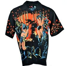 BC Ethic Retro 50s Style Las Vegas Girls Hawaiian Shirt La Rocka London XL P131
