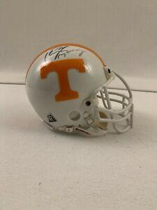 Peyton Manning Signed Authentic Mini Helmet Mounted Memories COA