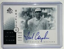2001 Upper Deck SP Authentic Fred Couples Sign of the Times Auto Autograph SOTT
