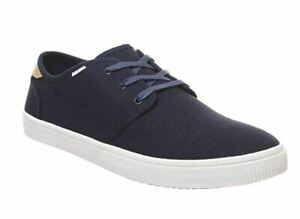 Toms Mens Carlo Sneakers Navy Heritage Canvas ORTHOLITE Size 13