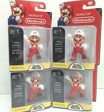 "Nintendo Super Mario Bros 2.5"" Action Figure Fire Mario x 4 -Cute Doll, Quality"