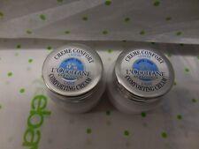 L'occitane Travel Size Set Of 2 Light Comforting Cream 0.28 Oz Each Sealed