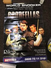 World Snooker Championship Poster 121 x 80 cm Bookies Window Original