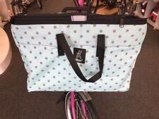 Brompton Folding Bike Front Basket, Improved Design - Brown Dot Turquoise
