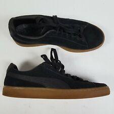 Puma Suede Classics Black Sneakers Shoes 363869 04 Mens Size 10