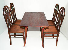 Furniture for Dolls 1/4 1:4 16-18 inches Tonner BJD Cami Table & 4 chairs
