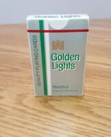 Golden Lights Menthol Cigarettes Sealed Deck Vintage Playing Cards Lorillard