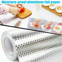 1/10M Aluminum Foil Self Adhesive Waterproof Anti oil Stove Tile Wallpaper-Home