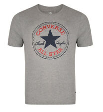 CONVERSE Mens Crew S/S T-Shirt Heather Grey MEDIUM M -New UK