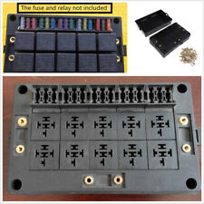 18 Way Blade Fuse Holder & 10 Way Relay Socket Box With Terminals For Car Marine