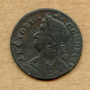 NIce High Grade Glossy 1787 Connecticut Draped Bust Left Colonial Coin!