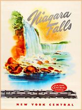 Niagara Falls New York Central Railroad Vintage United States Travel Poster