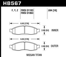 Hawk HPS Brake Pads Front Rear Skyline GTS R33 GT-S 2.5L