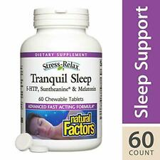 Stress-Relax Chewable Tranquil Sleep by Natural Factors, Sleep Aid with Sunthean