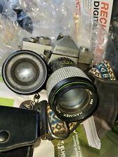 PRAKTICA MTL3 35mm camera Hanimex 1:2.8 f135 mm lens Vivitar thyristor 285