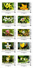 France 2014 Endemic Plants Flowers, Block of 10 Stamps Self Adh Ex booklet, MNH