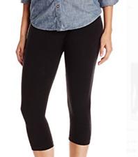 New Women's Ralph Lauren Leggings Black Capri Black Logo size B / C