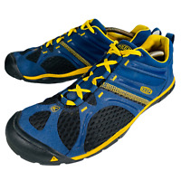 Keen Mens Hiking Shoes Madison Low Lightweight Sneaker Blue & Yellow Sz US 12
