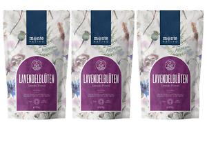 Lavendelblüten 3x250g von MonteNativo, Lavendel getrocknet, Lavendel ohne Zusäte