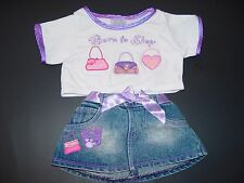 Build a Bear Clothes Clothing Outfit Born to Shop w/ Matching Skirt