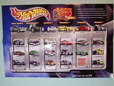 HOT WHEELS COLLECTORS 2004  WALL POSTER - NEW