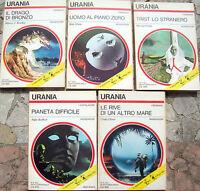 1972 5 ROMANZI URANIA Dal N. 595 al 599 DI BRADLEY, SHAW, ELDER, BUDRYS, OLIVER
