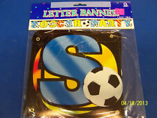 Championship Soccer Sports Kids Birthday Party Decoration Jointed Letter Banner