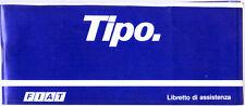 LIBRETTO DI ASSISTENZA FIAT TIPO TURBO DS SUPER COMPLETO DI TAGLIANDI - 1989