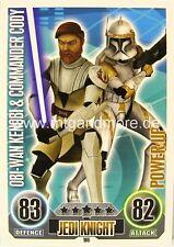 Star Wars Force Attax Obi-Wan Kenobi & Commander Cody