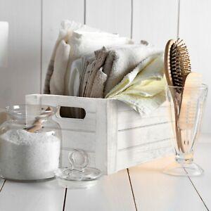 White Grey Wooden Crates Retail Display Shelve Storage Box Gift Hamper