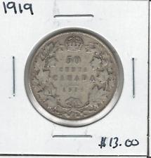 Canada 1919 50 Cent Silver