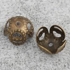 100 Filigran Perlenkappen 8mm Bronze Zwischenteile Schmuck Metall Spacer M464