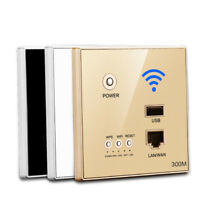 Relay Smart Wireles WIFI Repeater Extender Wall Embedded Router Panel USB Socket