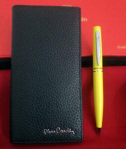 Set Regalo Pierre Cardin Portafoglio Porta Carte di Credito o Documenti + Penna