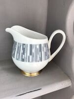 Tuscan Fine English Bone China Manhattan Small Milk Cream Jug Retro See Descript