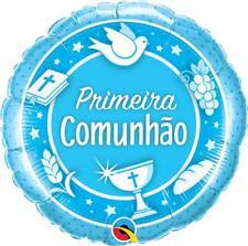 """Primera comunhao Azul Qualatex 18"""" Agujeta balaju de Folha"""
