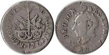 1817 (AN14) Haiti 12 Centimes Silver Coin KM#14