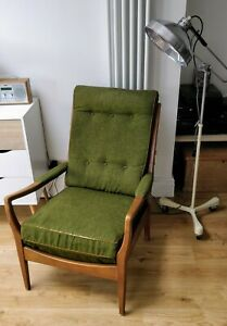 Vintage Cintique Arm Chair Mid Century Danish Style Design