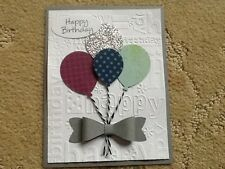 Sale happy birthday random balloon card kit of 9 made w/ Stampin' Up Card stock!