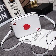 Playing Cards Poker Shape Funny Messenger Bag Shoulder Crossbody Bag Harajuku A