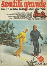 X1145 BARBIE - Con Ken a Sun Valley - Mattel - Pubblicità 1974 - Advertising