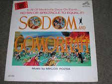 "SODOM and GOMORRAH (VG+) 1963 Rozsa- Soundtrack (EX) 12"" 33 RPM RCA Victor LP"