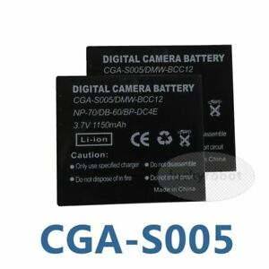 2 pack Battery for DB-60 DB-65 Ricoh Caplio GR Digital II GX100 R3 R30 R4 R40 R5